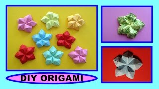 DIY ORIGAMI FLOWER, QUICK & EASY GIFT GUDE FOR DAD, SIMPLE IDEAS FOR FATHER'S DAY, BLUME ANLEITUNG