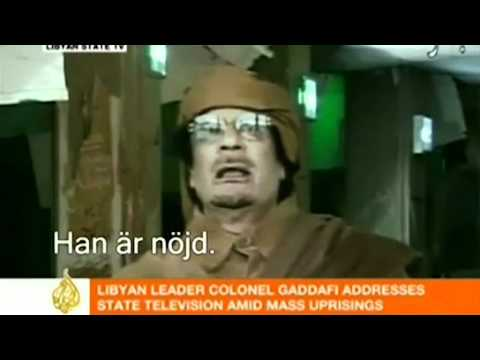 Muammar Gaddafi Talar Svenska video