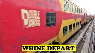 Arakkonam - WAP7 Double Decker Whines Departs Arakkonam