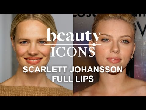 How to Get Scarlett Johansson's Full-Lip Look-Celebrity Makeup Tutorial-Style.com's Beauty Icons