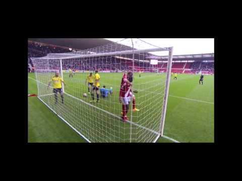 Video: Goalcam view of Boro against Brentford
