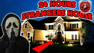 24 HOUR OVERNIGHT at a STRANGERS HOUSE | HIDING IN A STRANGERS HOUSE OVERNIGHT DRESSED AS THE SCREAM