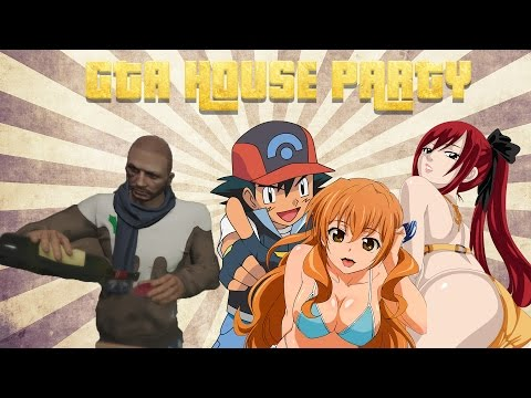 Gta V Online: House Party, Drunks And Anime Porn! video