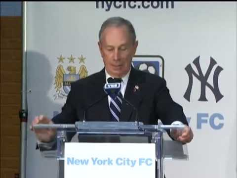 Mayor Bloomberg Joins Celebration for Major League Soccer's 20th Team, NYC Football Club
