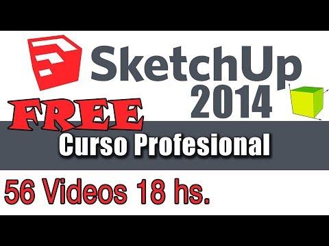 Curso gratuito de Sketchup 2014 HD en español tutorial 02