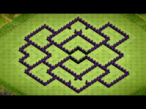 Clash Of Clans - Awesome Town Hall 8 Farming Base Speed Build - 2014