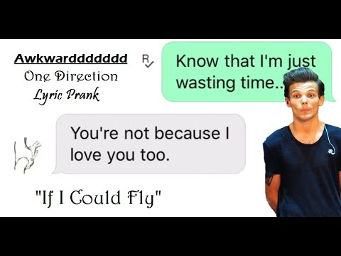 Awkward 1D Lyric Prank (If I Could Fly)