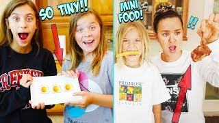 WE Survived on MiNi FOOD for 24 HRS!!