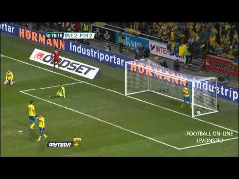 Швеция-Португалия 2-3.Обзор матча(дубль Ибрагимовича и хет-трик Роналду)