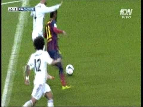 Real Madrid vs Barcellona 3 4  Fake Penalty Neymar on Sergio Ramos