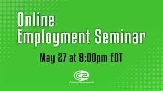 Online employment seminar by CyberConnect2 - May 27, 2020