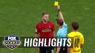 Yoric Ravet given red card after VAR | 2017-18 Bundesliga Highlights