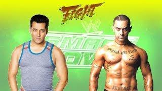Salman Khan vs Amir Khan WWE Raw 2017