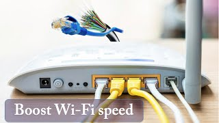 How to speed up your internet SPEED 10000x faster - Boost WiFi speed