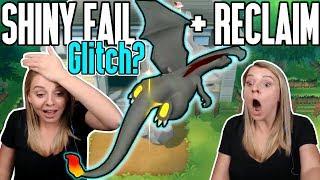Shiny Fail GLITCH? Then An INSANELY FAST RECLAIM! Pokemon Let's Go Shiny Reaction!