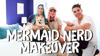 Blue and Purple Bedroom Makeover | Breaking Beige | Mr. Kate