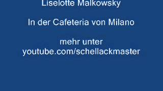 Liselotte Malkowsky In Der Cafeteria Von Milano