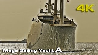"Mega Sailing Yacht ""A"" (Docking) [4K]"