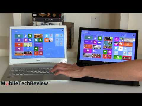 "Acer Aspire S7 vs. Sony VAIO Pro 13 13 3"" Haswell Ultrabook Comparison Smackdown"