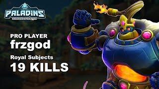 frzgod Bomb King 19 KILLS!! Paladins Pro (SSG) Ranked Gameplay