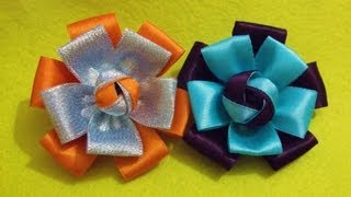 D.I.Y. Quick & Easy Satin Ribbon Flower - Tutorial | MyInDulzens