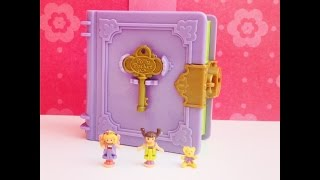 100% complete Polly Pocket Vintage Storybook Polly's Toy Land 1996 Glitterword Miniature pollypocke