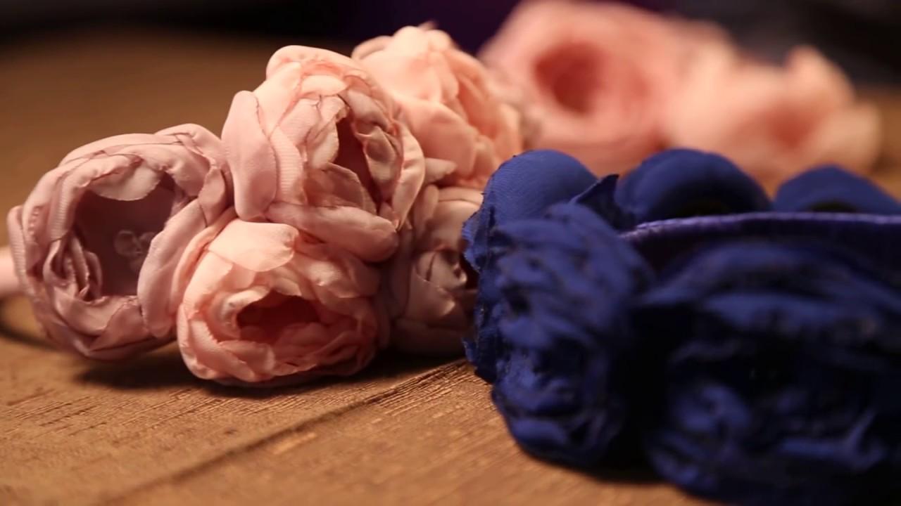 Как сделать цветы из шифона своими руками фото