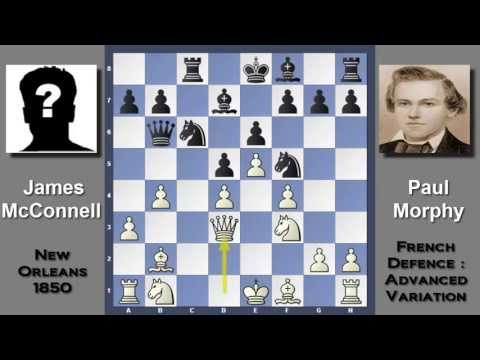 Devastating Attack : James McConnell vs Paul Morphy - Importance of Development