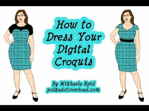 Designer Dress Patterns on Of How I  Try On  Sewing Patterns Using My Customized Digital Dress