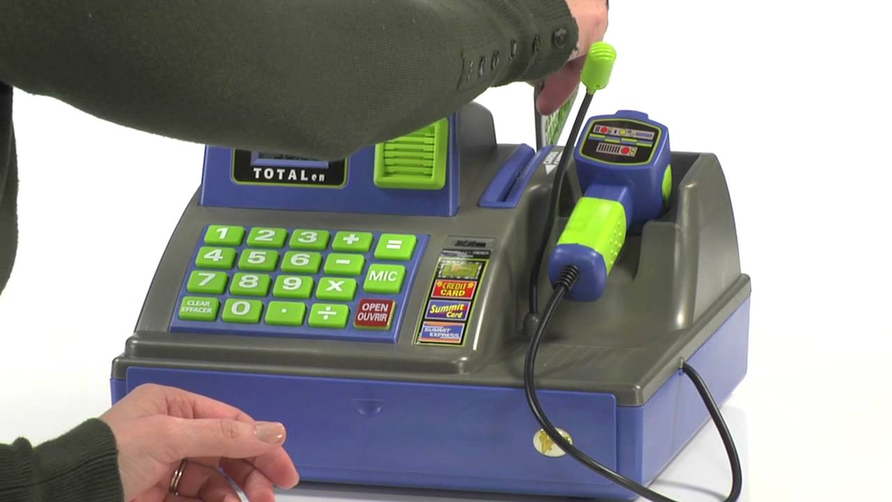 Toy Cash Register With Scanner : Language talking cash register youtube