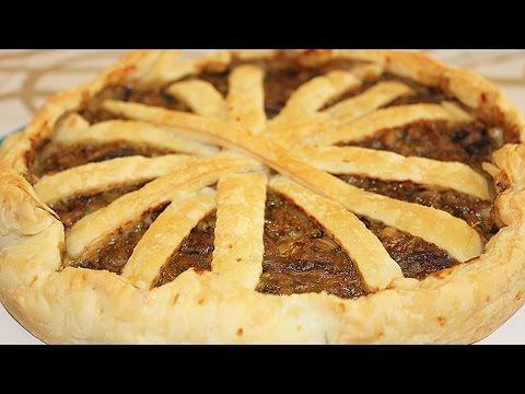 Пирог с капустой из слоеного теста!