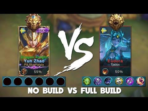 Mobile Legends 1vs1 No Build vs Full Build! (Glorious Legends vs master)