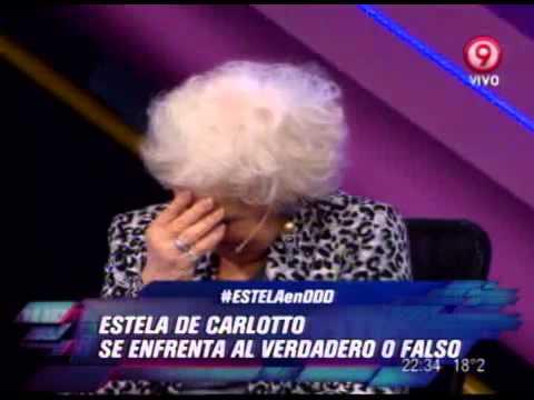 DURO DE DOMAR - VERDADERO O FALSO - ESTELA DE CARLOTTO - PRIMERA PARTE - 23-11-12