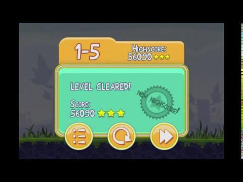 Angry Birds Lite | 3 Star Walkthrough | Level 5