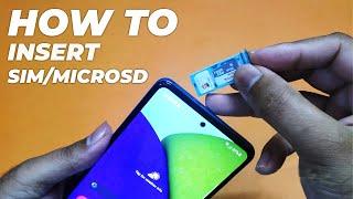 01. Galaxy A52 5G: How To Insert SIM/MicroSD Card!