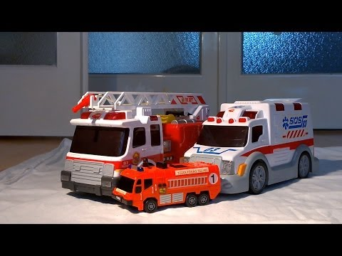 Very Big Ambulance, Fire engine and Fire Truck! Hero cars are here!Ambulanz,brannbil,消防車