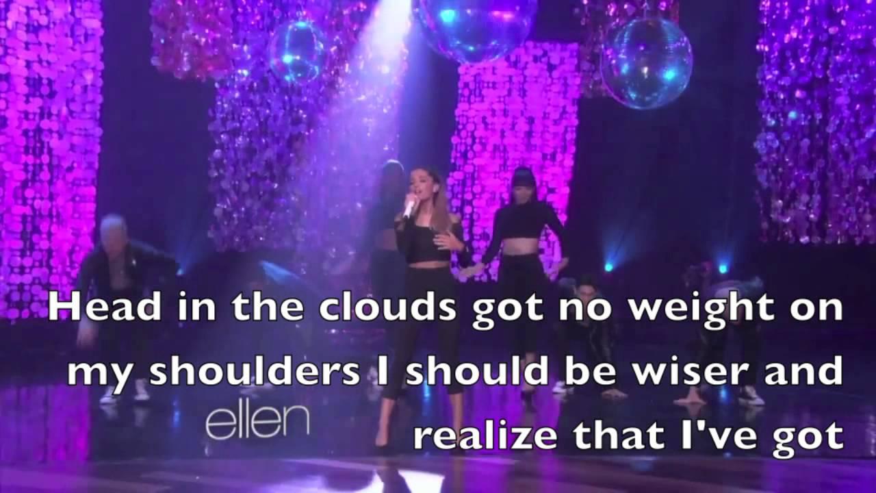 Problem - Ariana Grande Live Ellen Show Lyrics - YouTube