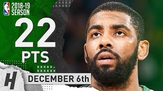 Kyrie Irving Full Highlights Celtics vs Knicks 2018.12.06 - 22 Pts, 8 Ast, 4 Rebounds!