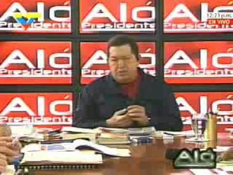 Presidente Chávez insta a la guerrilla colombiana a manifestarse por la paz parte 2 de 2