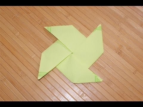 Pliages de serviettes en papier en forme de moulin vent youtube - Serviette de table pliage ...