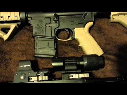 Burris 536 scope on ar-15 magpul edition