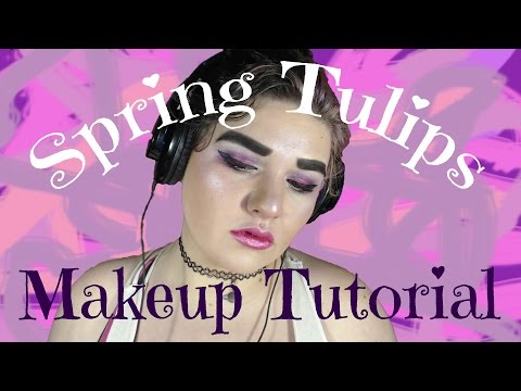 ♥ Spring Tulips Makeup Tutorial    Beauty Babe ♥ #2