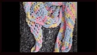 ROUND LOOM KNITTING. Knit a shawl scarf in a few hours.