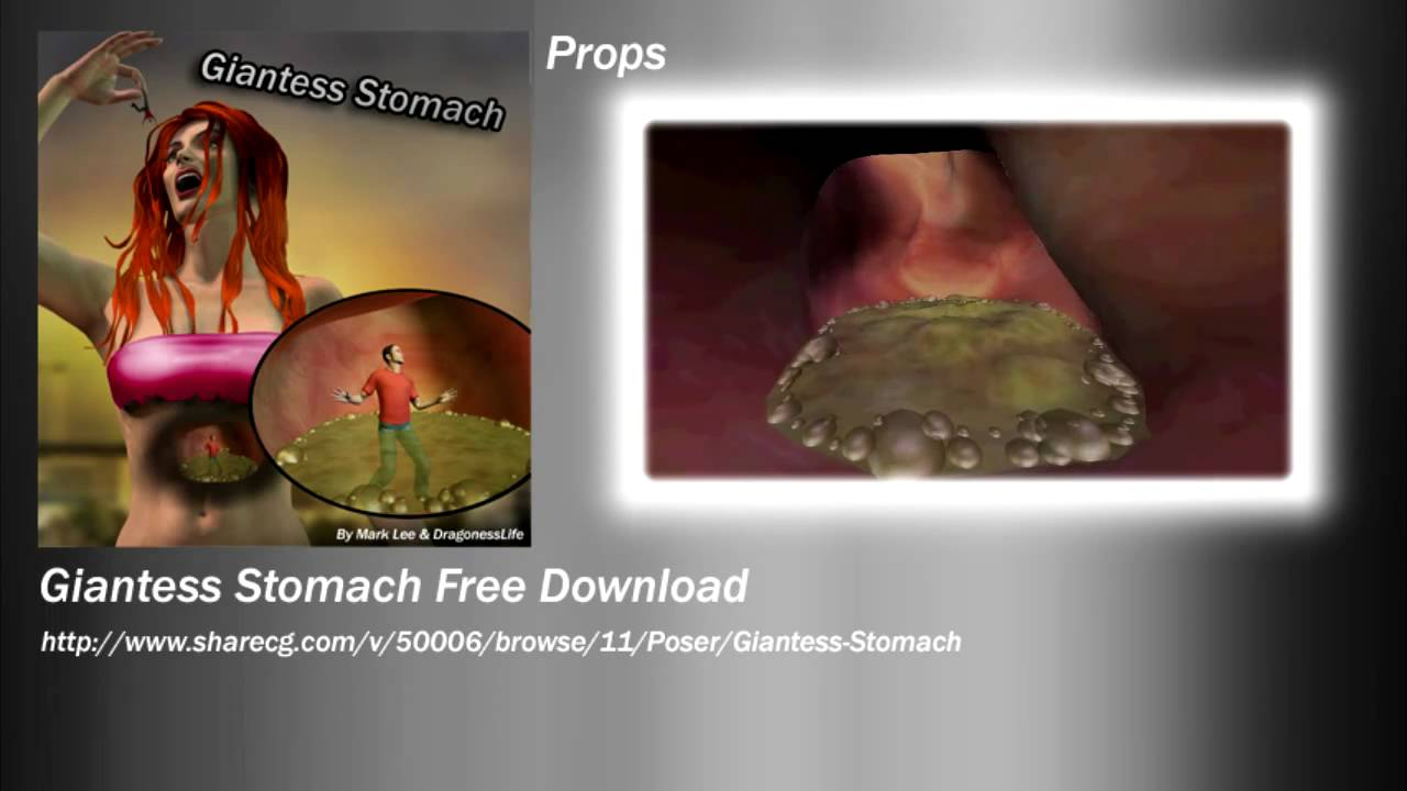 Sharecg free downloads Giantess Stomach Prop - YouTube