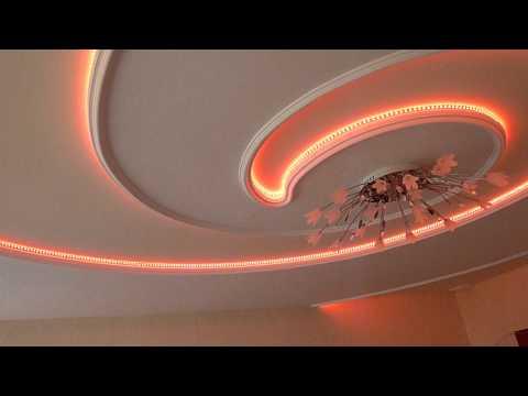 Потолок из гипсокартона Двигатель Лестница своими руками