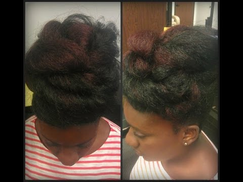Natural Hair: Protective Style Big Twisted Faux Bun