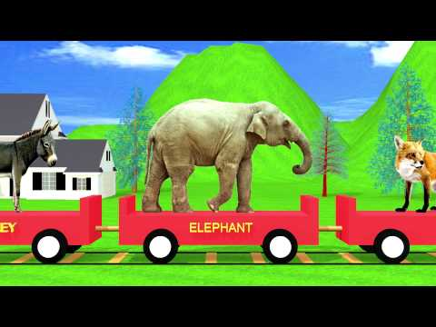 The Animal Train | Hd Animation video