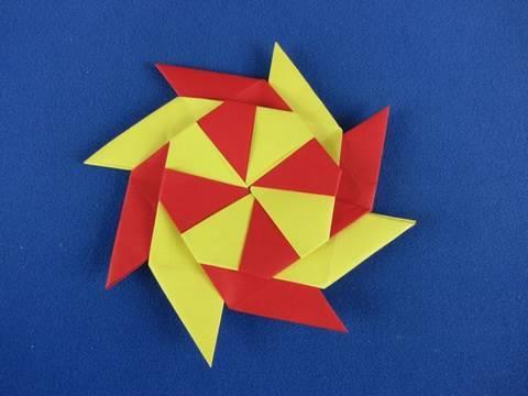 Stella ningja 8 punte How to Make an Origami  Eight Pointed Ninja Star shuriken