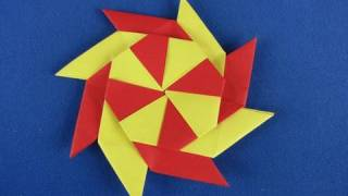 Stella ningja 8 punte How to Make an Origami  Eight Pointed Ninja Star shuriken 折り紙 折纸