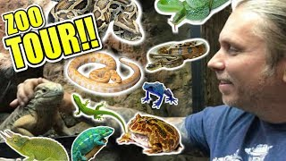 COMPLETE REPTILE ZOO TOUR!! CAGE BY CAGE!!! | BRIAN BARCZYK